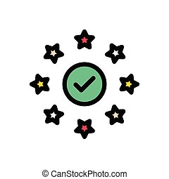 verified flat color icon