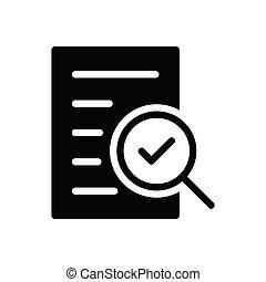 verified glyph flat icon