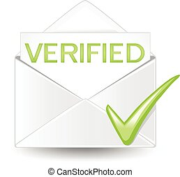 Verified Mail - An open verified letter.