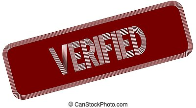 VERIFIED on red label.