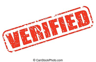 Verified red stamp text