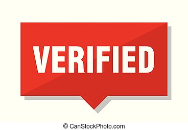verified red tag