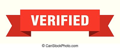 verified ribbon. verified isolated sign. verified banner