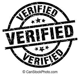 verified round grunge black stamp