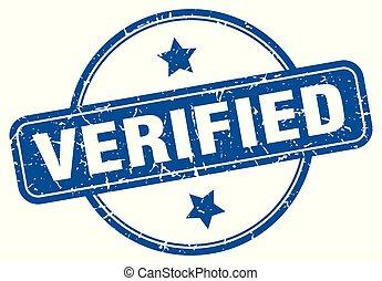 verified round grunge isolated stamp