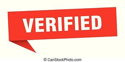 verified speech bubble. verified sign. verified banner