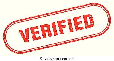 verified stamp. verified square grunge sign. verified
