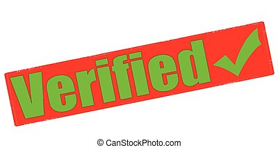 Verified - Stamp with word verified inside, vector...