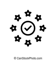 verified  thin line icon