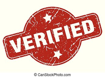verified vintage stamp. verified sign