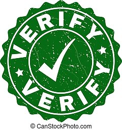 Verify Grunge Stamp with Tick