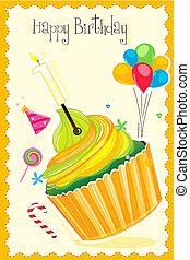 verjaardag kaart, vrolijke