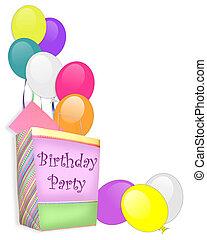 verjaardagsfeest, uitnodiging, achtergrond