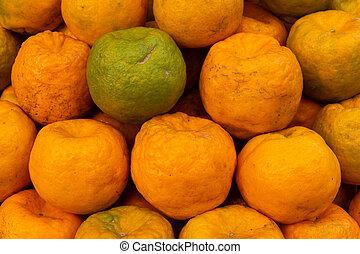 verkauf, orangen, indien, kolkata