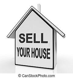 verkaufen, dein, haus, daheim, shows, auflistung, real estate