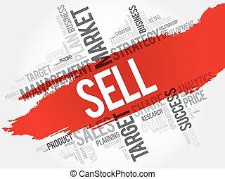 verkaufen, wort, wolke