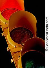 verkeer, light-illuminated, rood