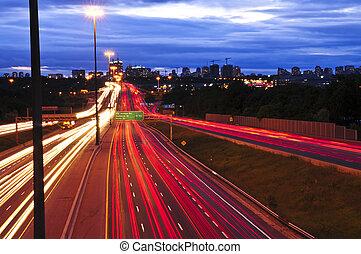 verkeer, nacht