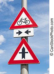 verkeersbord, bicycles