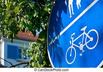 verkeersbord, fiets