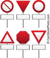 verkehr, rotes , zeichen