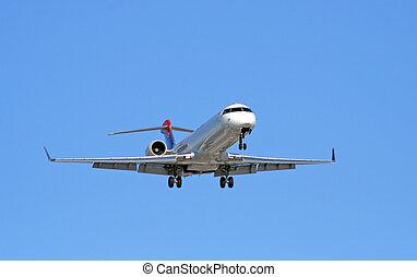 verkehrsflugzeug, sich nähern