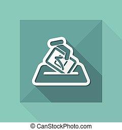 verkiezing, concept, pictogram