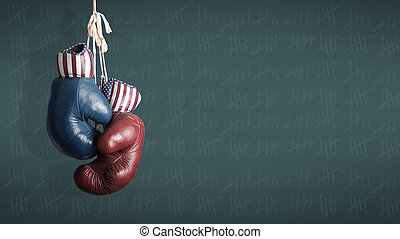 verkiezing, dag, 2014, -, republikeinen, en, democraten, in,...
