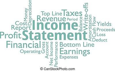 verklaring, woorden, inkomen