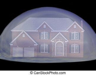 verklig, bubbla, egendom