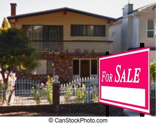 verklig, egendom, såld, försäljning, underteckna, Hem