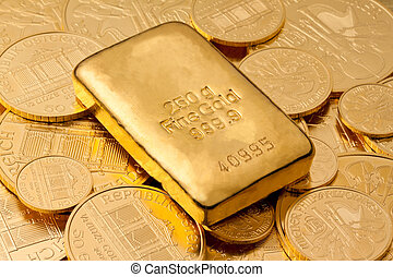 verklig, guldtacka, investering, guld, än