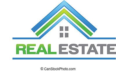 verklig, hus, egendom, logo