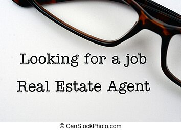 verklig, jobb, fastighetsmäklare