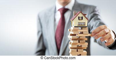 verklig, ostadighet, egendom, marknaden