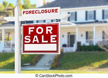 verklig, rättighet, egendom, utmätning, house., realisation ...
