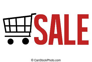 verkoop, boodschappenwagentje