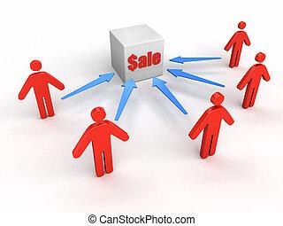 verkoop, mensen