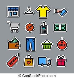 verkoop, stickers