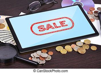 verkoop, tablet