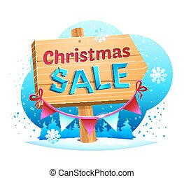 verkoop, vector, kerstmis, illustratie
