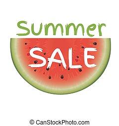 verkoop, zomer, poster