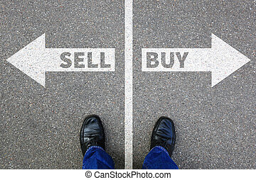 verkopen, kopen, het verkopen, aankoop, goederen, stockexchange, bankwezen, handel concept
