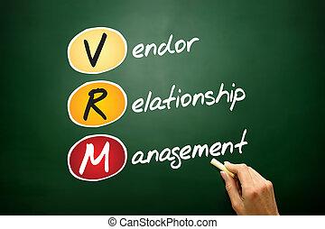 verkoper, verhouding, management