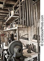 verktyg, verkstad, skjul
