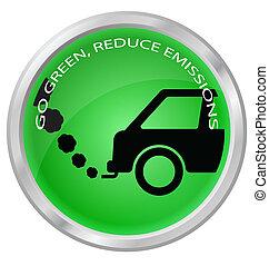 verlagen, uitstoten, koolstof