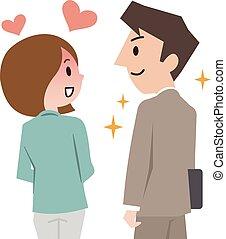 verlangen, vrouw, liefde, man