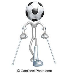 verletzt, fußballfootball, spieler