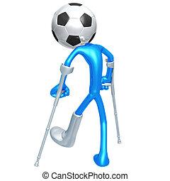 verletzt, spieler, fußballfootball