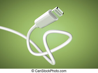 Stekker, verlichting, kabel, groot, diepte, fototoestel,... clipart ...